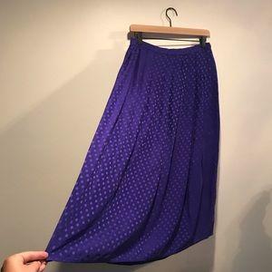 VINTAGE High-Waisted Purple Polka Dot Skirt 💜